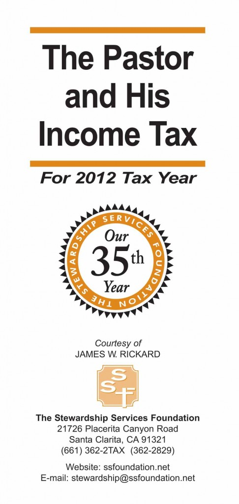 The Pastor and His Income Tax - Booklet